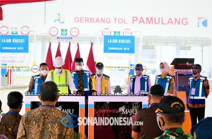 Diresmikan Jokowi, Airin Berharap Adanya Tol Serpong-Pamulang Tingkatkan Perekonomian Tangsel
