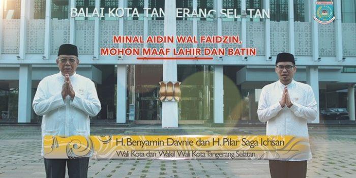 Walikota & Wakil Walikota Tangerang Selatan Sambut Hari Kemenangan Idul Fitri 1442 H, dengan Suka Cita